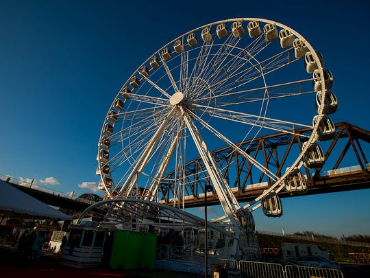 The SkyStar Observation Wheel opened to the public on Friday, March 30, 2018 at the Big Four bridge.