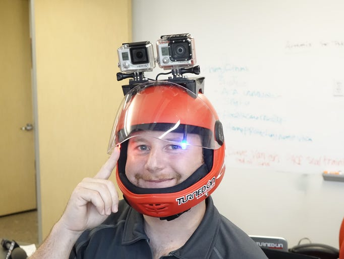 Mark Kirschenbaum's Hypoxic company sells a rig to help you control GoPro cameras while attached to helmets.