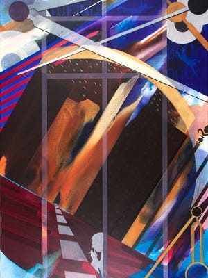 "Bill Santelli's ""Gateless Gate"" (acrylic on canvas)."