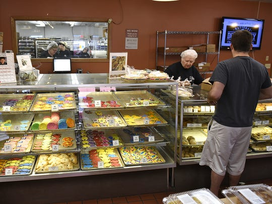 Customers choose from a variety of bakery goods at Cold Spring Bakery.