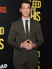 Miles Teller at the premiere of 'Bleed for This' last