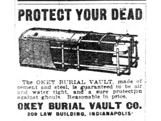 The Okey Burial Vault Co. promised protection against ghouls.
