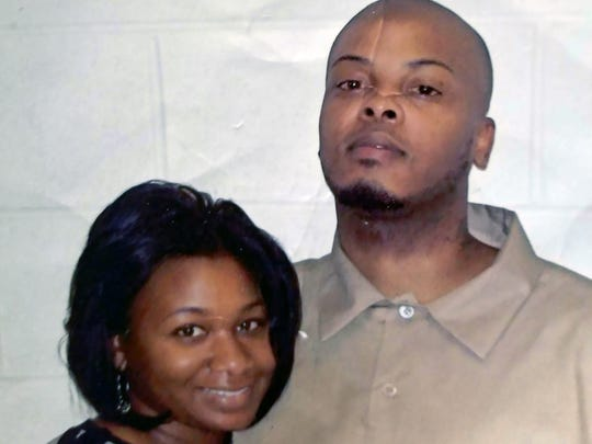 Donshay White with his girlfriend Denise Cason.