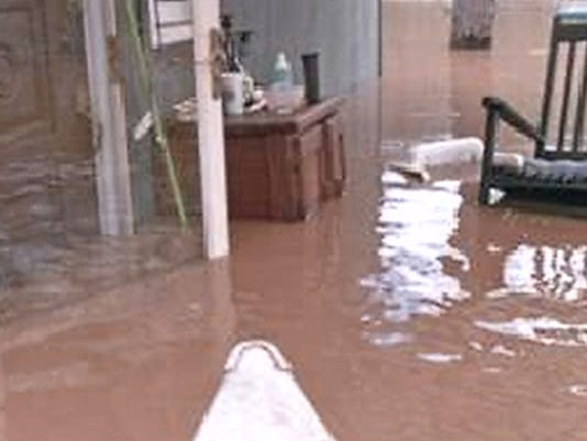 Home flooded by Conewago Creek.