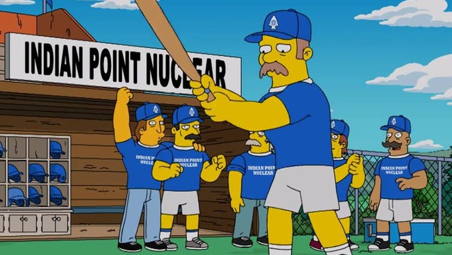 'The Simpsons' cracked jokes Sunday, April 2, 2017, about the Indian Point Energy Center in Buchanan, Westchester County.