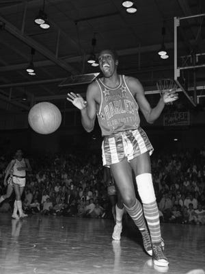 Famous Harlem Globetrotters performer Meadowlark Lemon performs at the Tully Gymnasium in Tallahassee in February 1967.