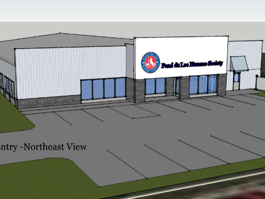 A rough rendering of the design plans for the new Fond