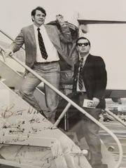 Ken Stabler, left, and Selma attorney Henry Pitts,