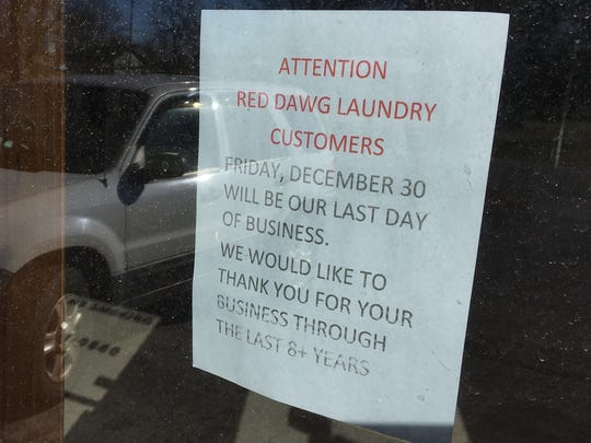 Red Dawg Laundry, Aurora's only laundromat, closed Friday.
