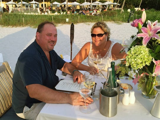 Harold Balink and his wife, Julie, celebrate her birthday in 2015 at LaPlaya Beach and Golf Resort in Naples. Julie died October 19, 2017 from ovarian cancer.