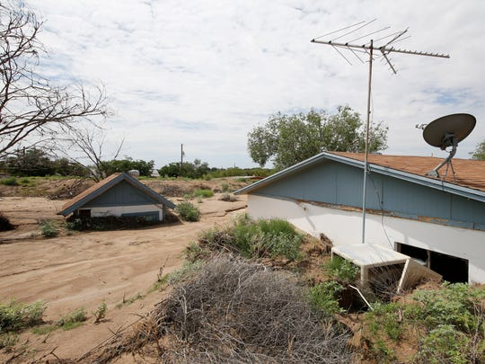 Several of the homes that were destroyed from the floods