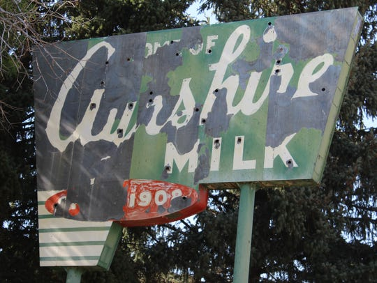 The Ayrshire Dairy sign south of Great Falls