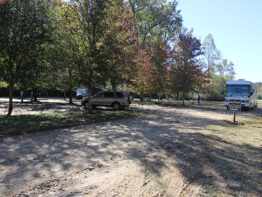 The Eastatoee River RV Park was clearing out, and drying