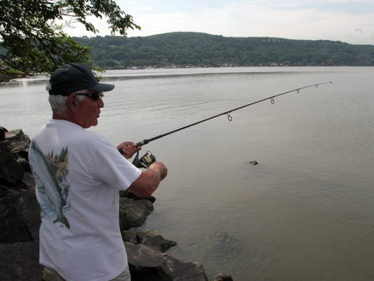 John Francesconi of New City spent all day fishing
