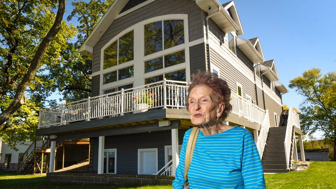 Kathleen Mimbach is shown in front of her home Sept. 20, 2017 on Grand Lake in a Times file photo.