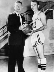 Babe McCarthy, left, coached Mississippi State to four