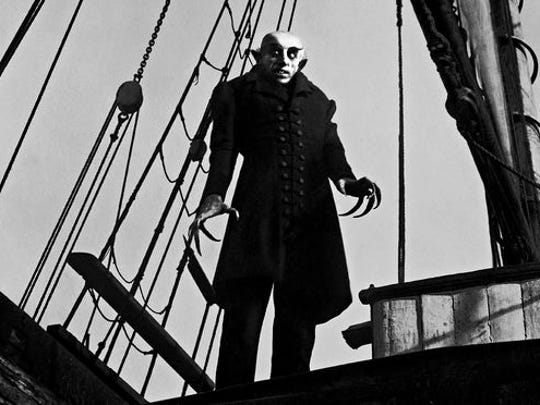 """Count Orlock, portrayed by Max Schreck, is featured in a scene from """"Nosferatu,"""" an unauthorized adaptation of Bram Stoker's """"Dracula."""""""