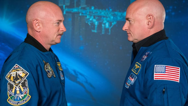 Expedition 45/46 Commander, Astronaut Scott Kelly along with his brother, former Astronaut Mark Kelly .
