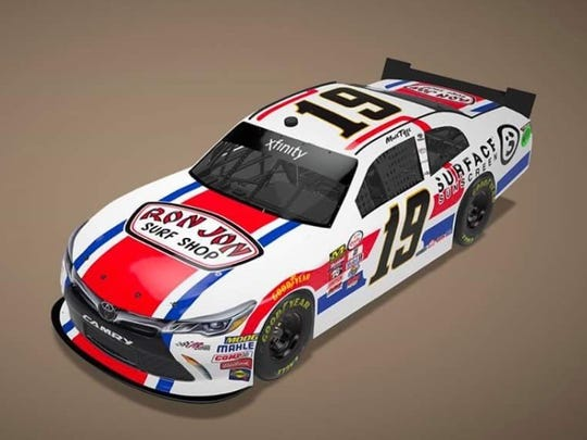 What the No. 19 car will look like at Darlington.