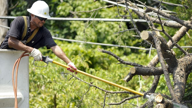 Utility workers are repairing outages across South Jersey today.