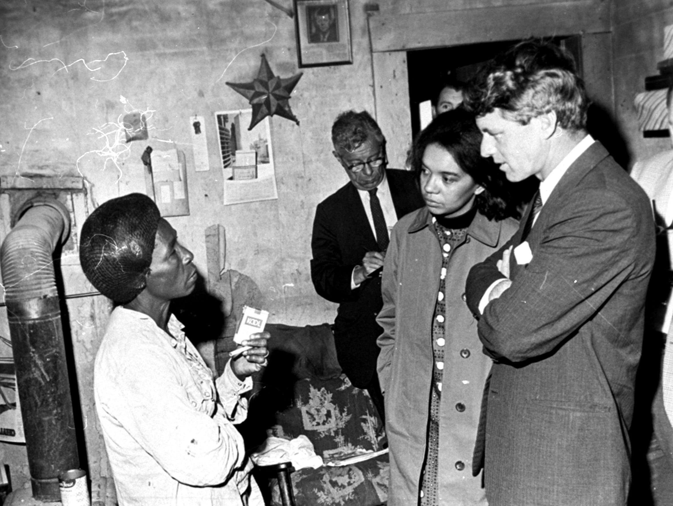 Sen. Robert F. Kennedy is shown touring the Mississippi