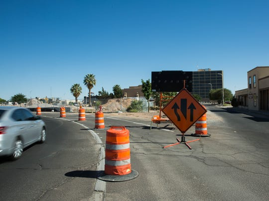 Construction on Church and Water streets in downtown Las Cruces conversion project will begin in about six weeks, costing an estimated $13 million. Friday, April 21, 2017.