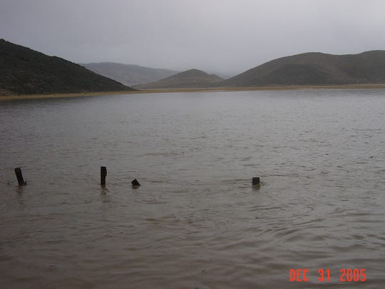 The fields of Butler Ranch where 4,700 homes may be built was inundated during the 2005 flood.