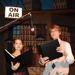 """Julia Guy stars as Mary Hatch and Tim Cain is George Bailey in Philip Grecian's radio play adaptation of the Frank Capra classic holiday favorite """"It's A Wonderful Life"""" from Binghamton High School's Serling Players."""