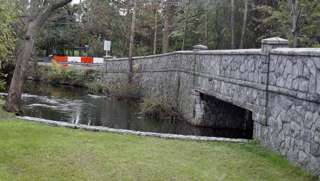 The Montebello Road Bridge, at Lake and Montebello roads, is shown in this October 2011 file photo. The bridge is expected to be demolished and rebuilt next year.  Seth Harrison / The Journal News The Montebello Road Bridge, at the intersection of Lake and Montebello roads,  was closed last week after structural damage was found during a state inspection. The damage to the bridge's abutment occurred during Tropical Storm Irene. The bridge will be closed for months.