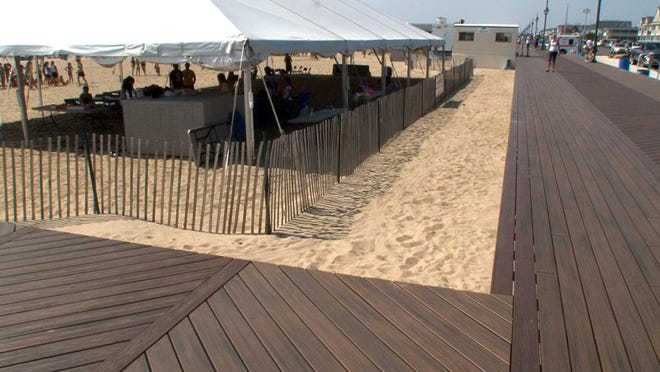 The pavilion at 5th and Ocean Ave in Belmar should be rebuilt to FEMA and new municipal code standards and it will be when the mayor decides to scale it back to pre-Sandy size and function.