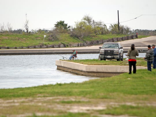 Conn Brown Harbor in Aransas Pass has lots of shoreline space for anglers.