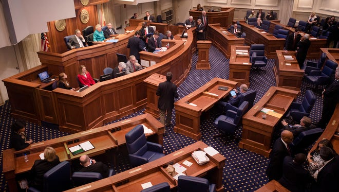 Alabama Senate meets during the opening day of the Alabama State House Session on Tuesday, March 3, 2015, in Montgomery, Ala.