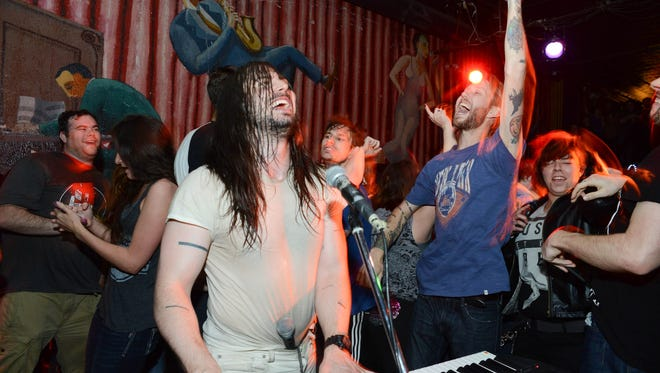 Andrew W.K. throws the ultimate party during his set at Vaudeville Mews on Saturday night in May 2015.