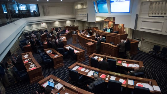Alabama Senate floor during the legislative session on Thursday, June 4, 2015 at the State House in Montgomery, Ala.