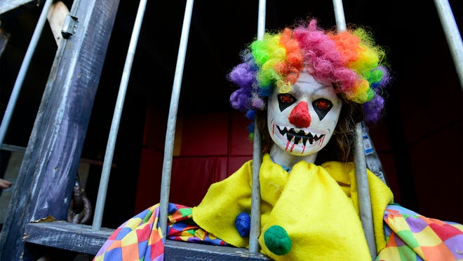 Clowns are part of the scare at the Haunted Hydro in Fremont.