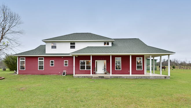 2886 Molino Road, main house with a charming porch.