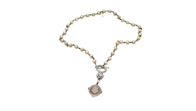 Lizzie silver and pearl necklace $260. Shopping List: The Market & Mainly Shoes