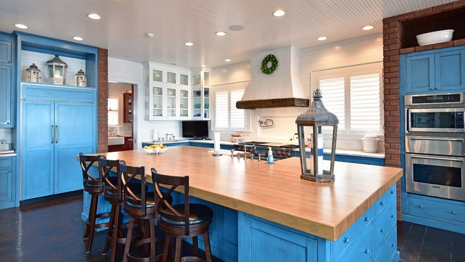 227 Sabine Drive, the kitchen is perfect when cooking for large gatherings.