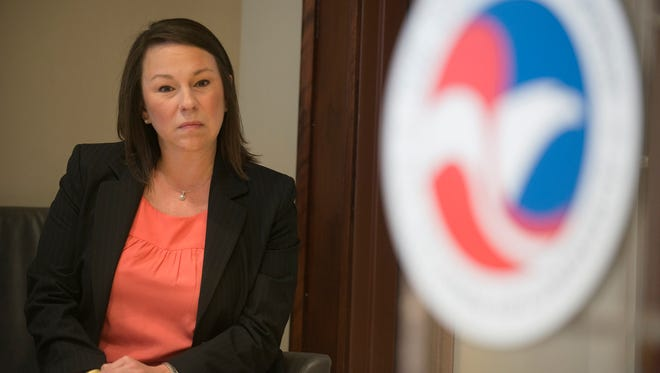 Representative Martha Roby sits while being endorsed by the US Chamber of Commerce on Monday, Feb. 8, 2016 in Montgomery, Ala.