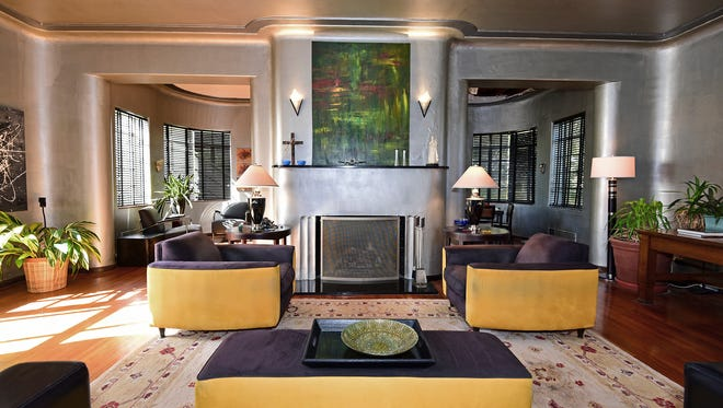312 West Blount Street, the open living area with a fireplace.