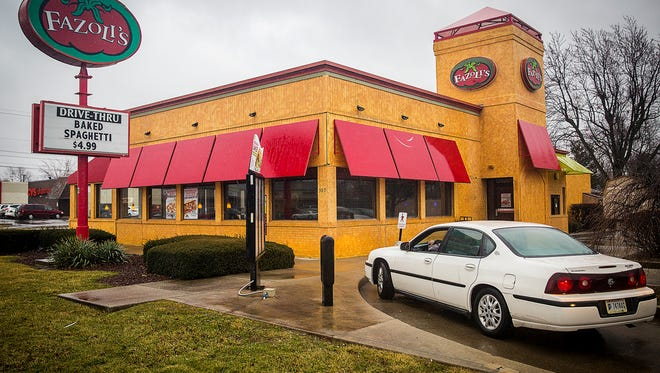 Fazoli's on McGalliard Road plans to replace its pole sign with a ground/monument sign, renovate the building and reconfigure its drive-thru lane, which sometimes backs up traffic onto McGalliard.