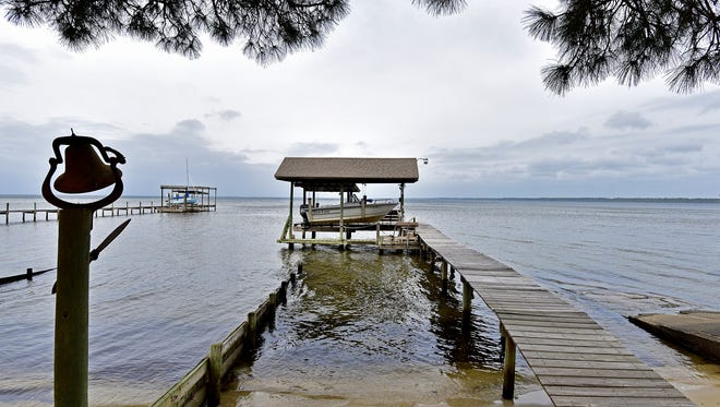 6716 East Bay Boulevard, private boat house and dock.