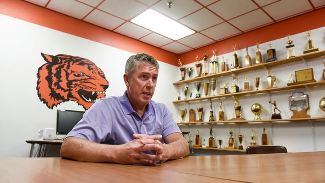 St. Cloud Technical High School Principal Charlie Eisenrich talks about his work at the school Tuesday, July 12.