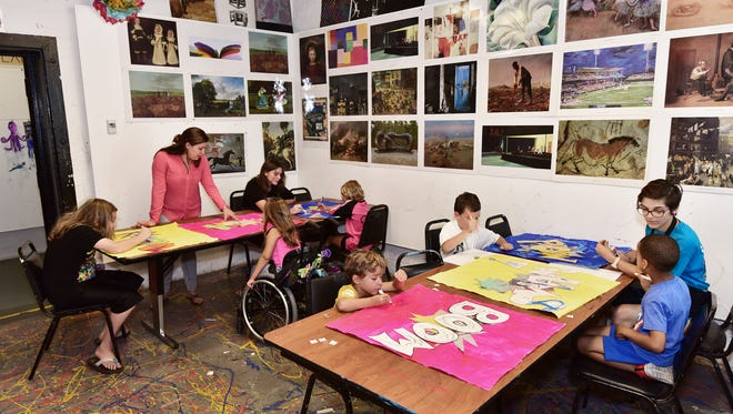 Children's art classes at the Pensacola Museum of Art.