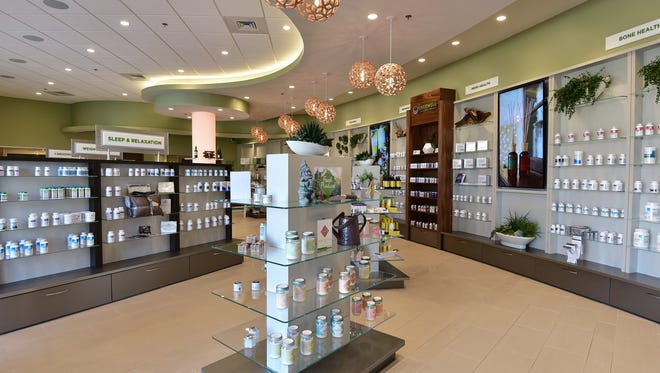 The retail space is visually appealing and employs natural elements and calming colors for a timless atmosphere with a touch of zen.