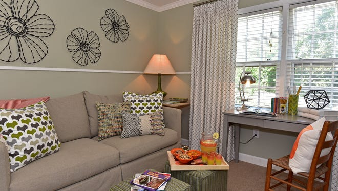 A child's homework space, by In Detail Interiors.