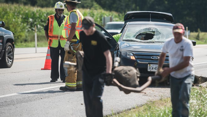 A two-vehicle crash Friday injured one on Route 15 at Scotch Pine Road.