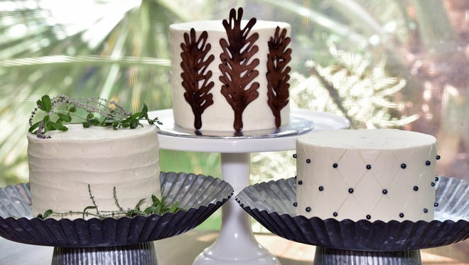 Mini cakes by Justine Gudmundson-McCain, owner of Blue Jay's Bakery.