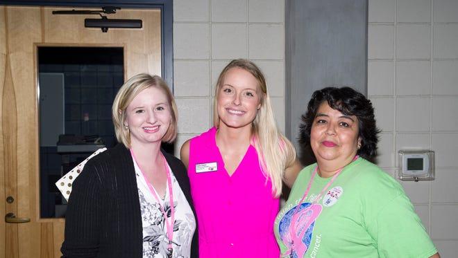 Making Strides Against Breast Cancer - Ashlee Hudnall, Kayla Owen and Carmen Kimmons.