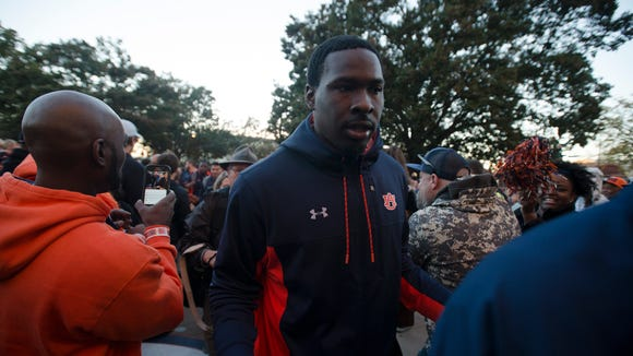 Auburn quarterback Jeremy Johnson (6) walks in Tiger